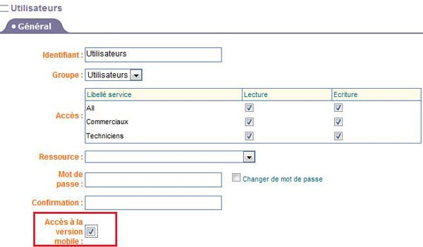 Create users from the online scheduling application PlanningPME Web Access