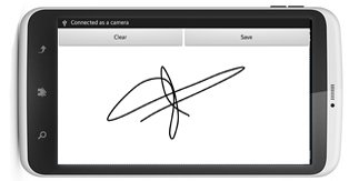 Electronic signature on the mobile