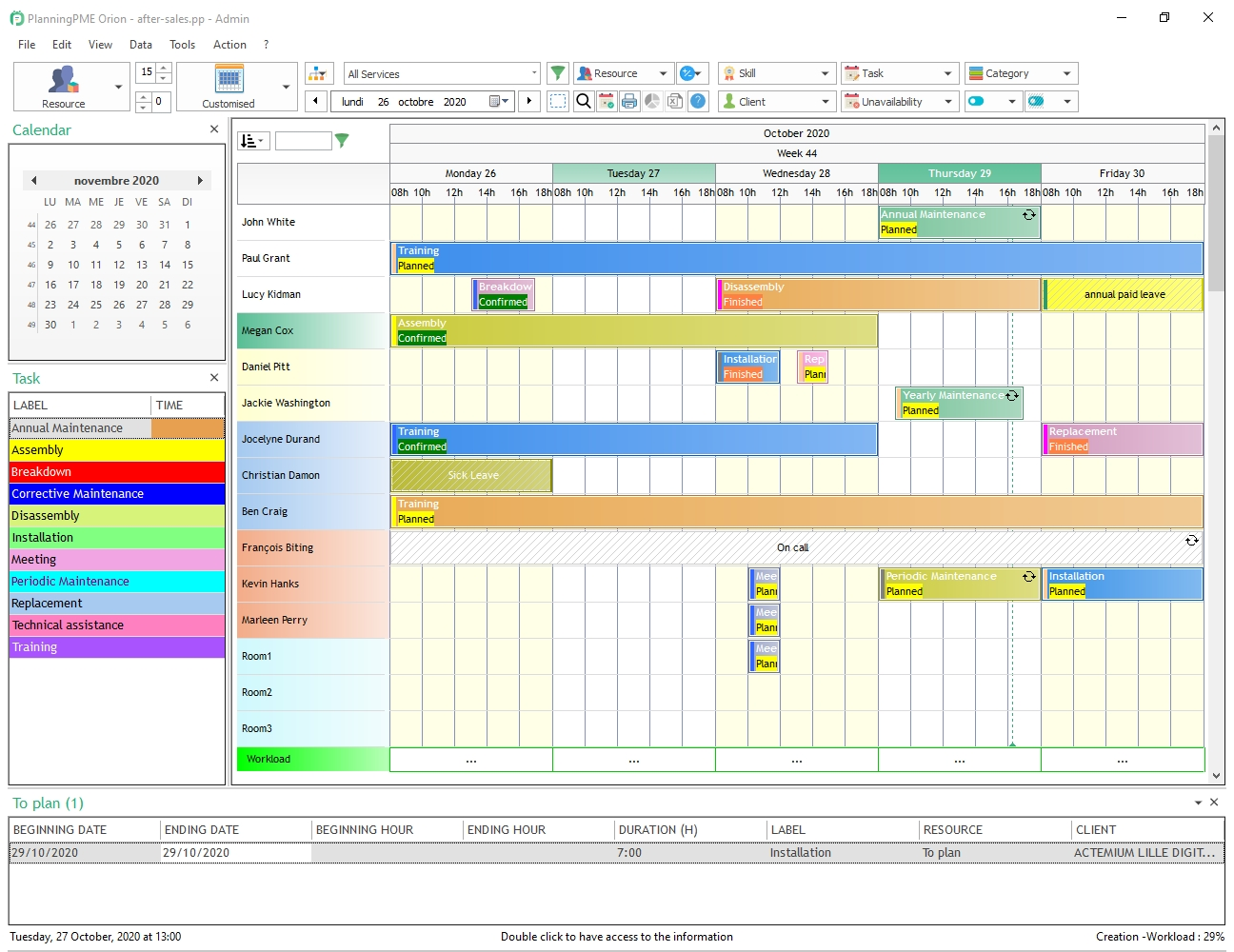 manage shift schedule weekly or monthly planning planningpme