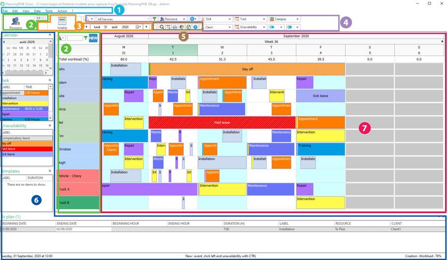 Schedule Interface