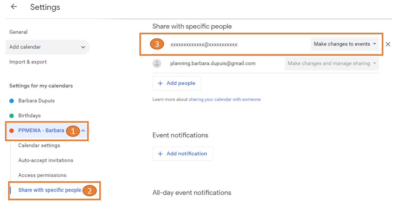Synchronize PlanningPME with Google Calendar